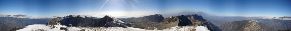 Panorama from the top of Gamila peak. Created with the free online application Dermandar (https://www.dermandar.com)