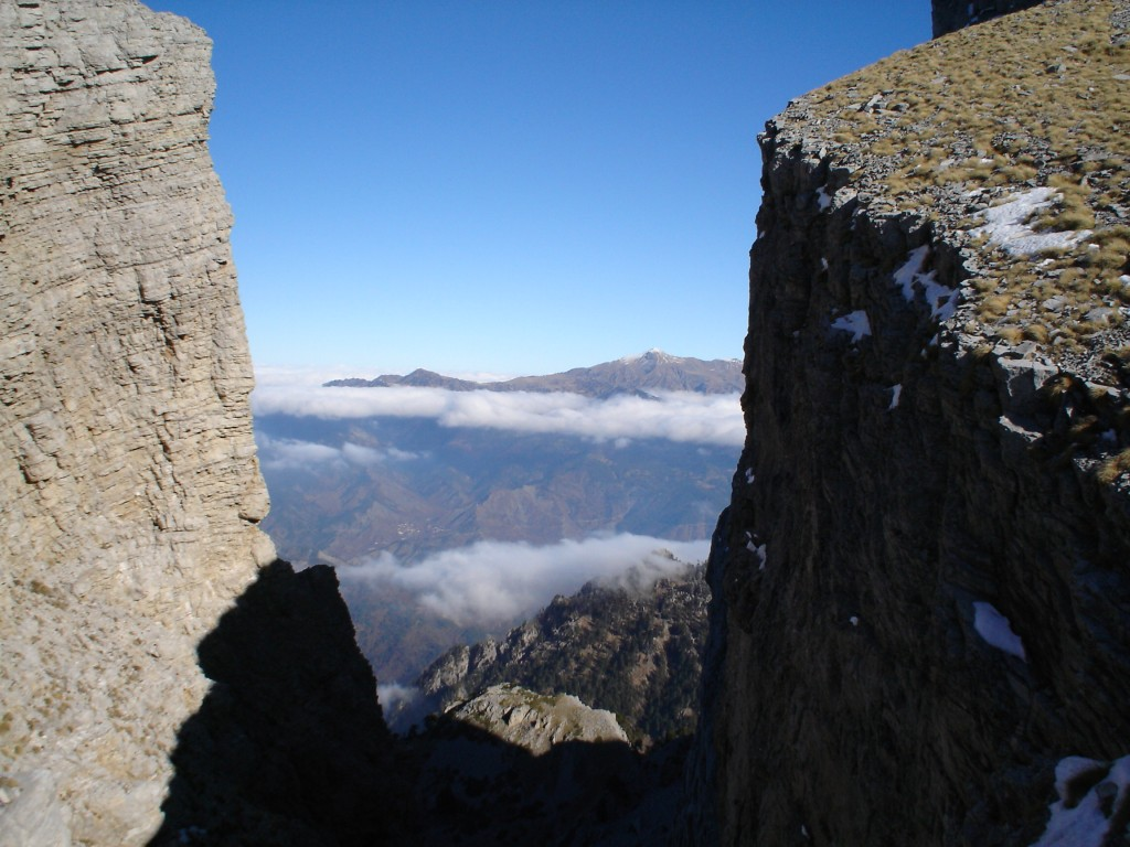 Smolikas and its highest peak (2631 m). The second highest mountain of Greece