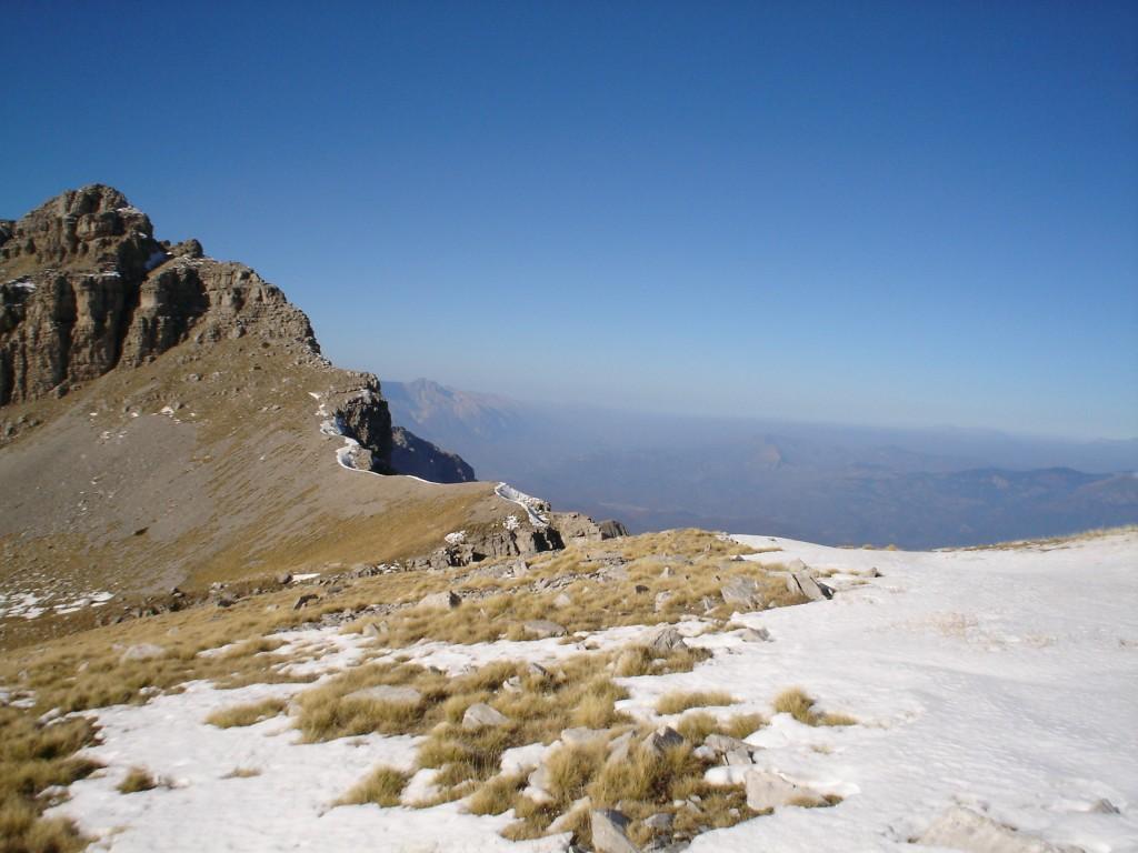 Reaching the highest point of Tymfi. Gamila peak!